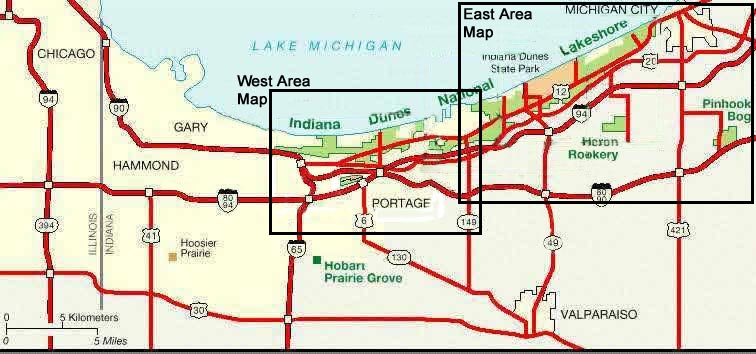 Maps Of Indiana Dunes National Lakeshore In Indiana