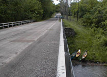 photo of Rainsville Bridge access point to Big Pine Creek in Indiana